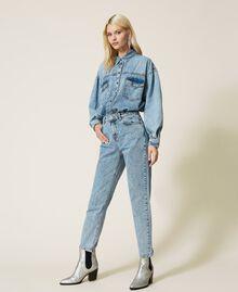 """Camicia in jeans Blu """"Denim Medio"""" Donna 212AP2391-03"""