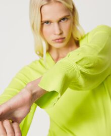 """Seamless jumper with wide sleeves """"Led"""" Yellow Woman 211TT3071-05"""