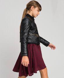 Байкерская куртка из искусственной кожи Красный Ruby Wine Pебенок 192GJ2010-01