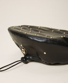 Baskenmütze aus Lederimitat mit Nieten Schwarz Kind 202GJ4930-02
