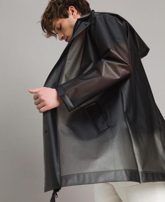 Hood raincoat with logo