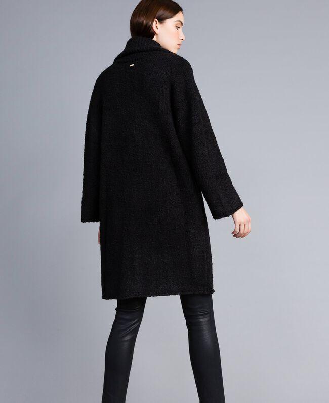 Bouclé coat Black Woman SA83CA-03