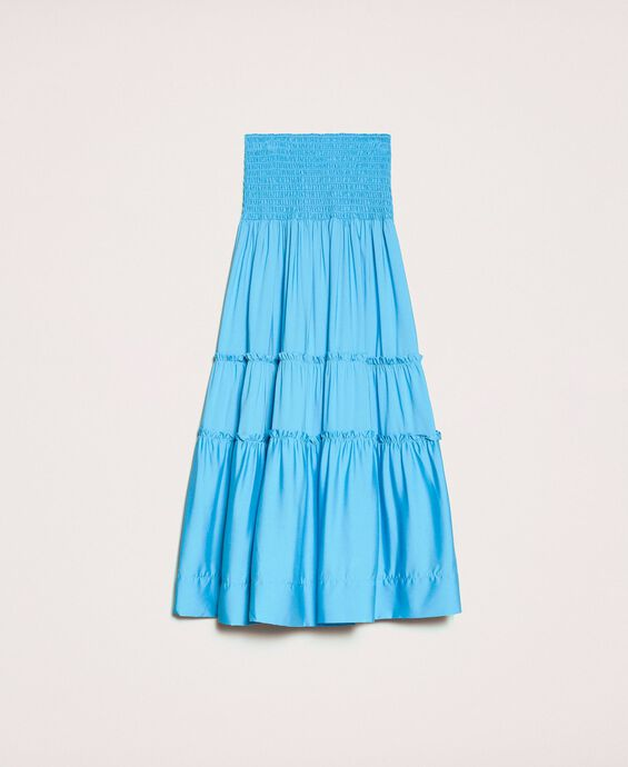 Skirt-dress with flounces
