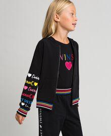 Printed logo sweatshirt Black Child 999GJ2012-03