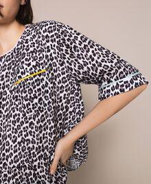 Blouse en crêpe georgette avec imprimé animalier Imprimé Animalier Lis / Noir Femme 201MP2441-04
