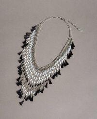 Collier à franges perlées