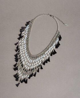 Halskette mit Perlenfransen