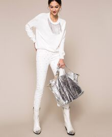 Кожаная сумка-шоппер с логотипом Питон женщина 201TA7090-0S