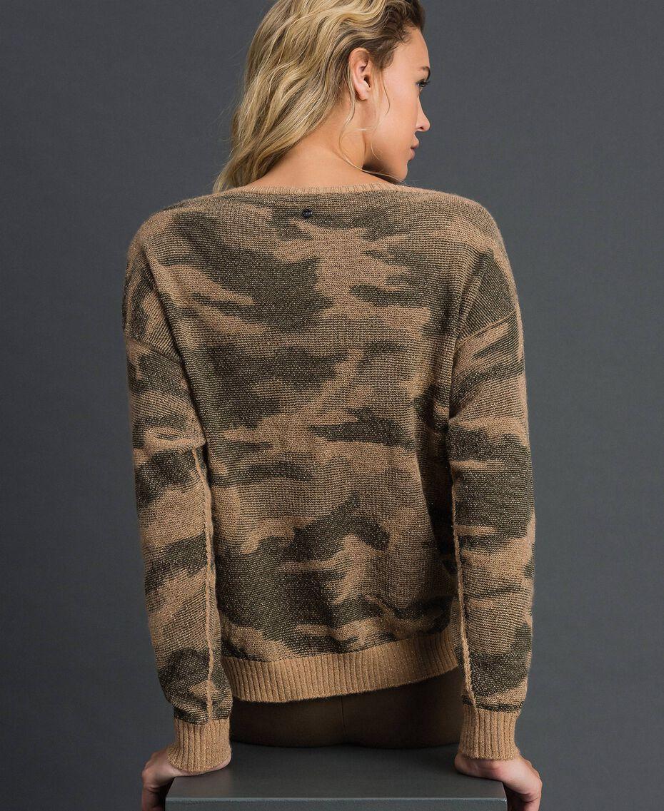 Maglia jacquard a motivo camouflage Stampa Camouflage Donna 192TT3191-03