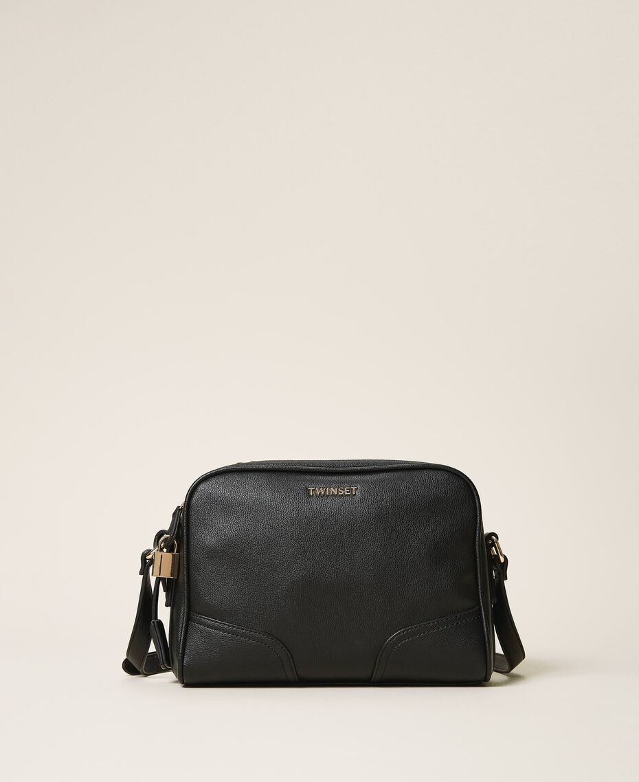 Shoulder bag with dual compartment Black Woman 202TB7032-03