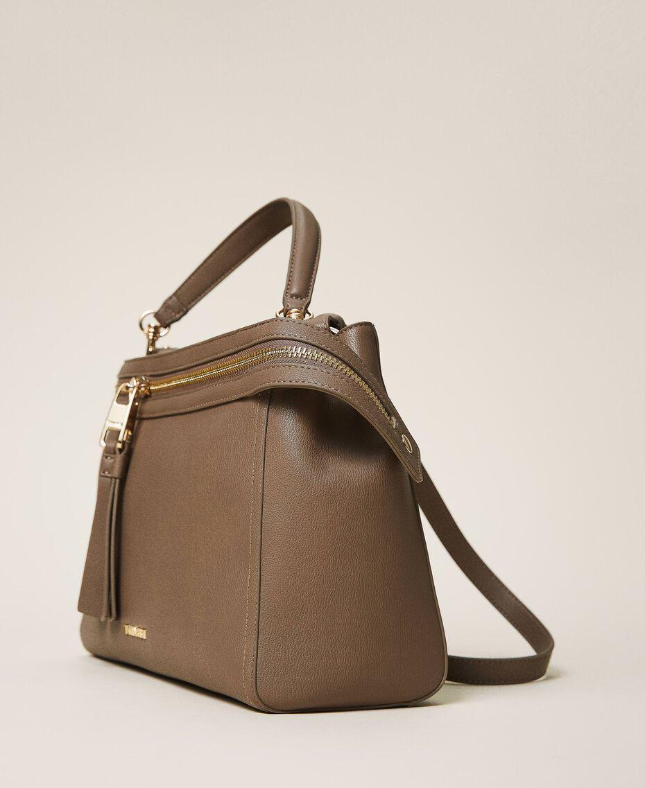 Большая сумка New Cécile из искусственной кожи Бледно-коричневый с серым оттенком женщина 202TB7180-02