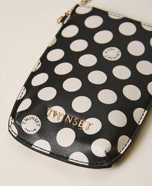 Smartphonetasche aus Lederimitat Schwarz Frau 202TD8118-03