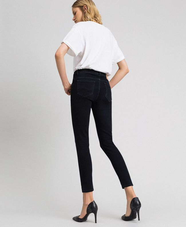 Five-pocket skinny jeans Black Woman 192TP2430-04