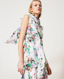 Étole avec imprimé Multicolore Blanc «Cassé Pois» Femme 211MO5364-0S