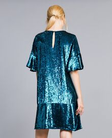 Sequin dress Octane Blue Woman TA82DC-03