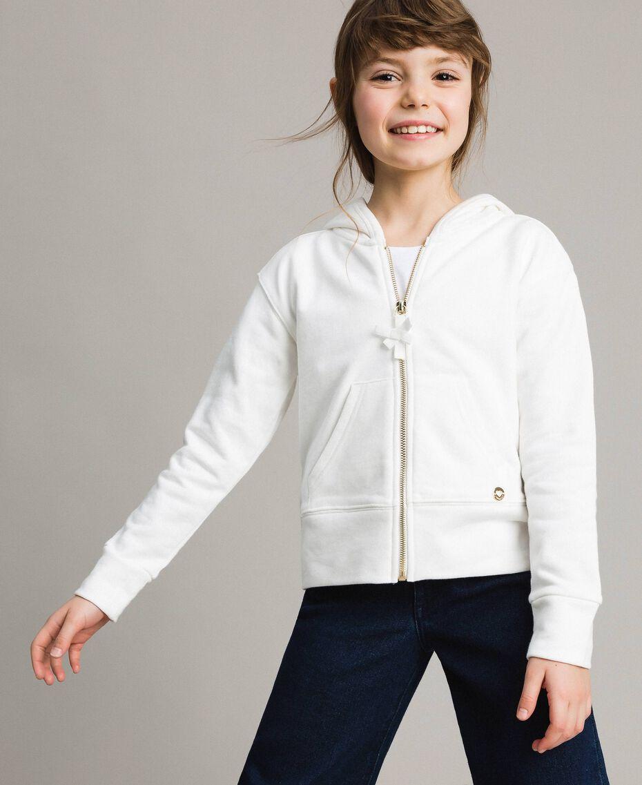 Sweat shirt en coton avec nœuds Off White Enfant 191GJ2031-02