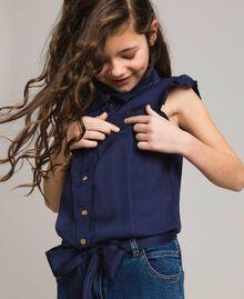 Satin-Trainingsanzug und Pullover im Denim-Look Indigo Kind 191GJ2382-04