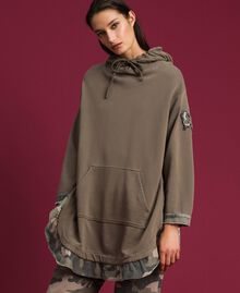 Maxi sweat avec détails camouflage Or Militaire / Imprimé Camouflage Femme 192TP2040-02