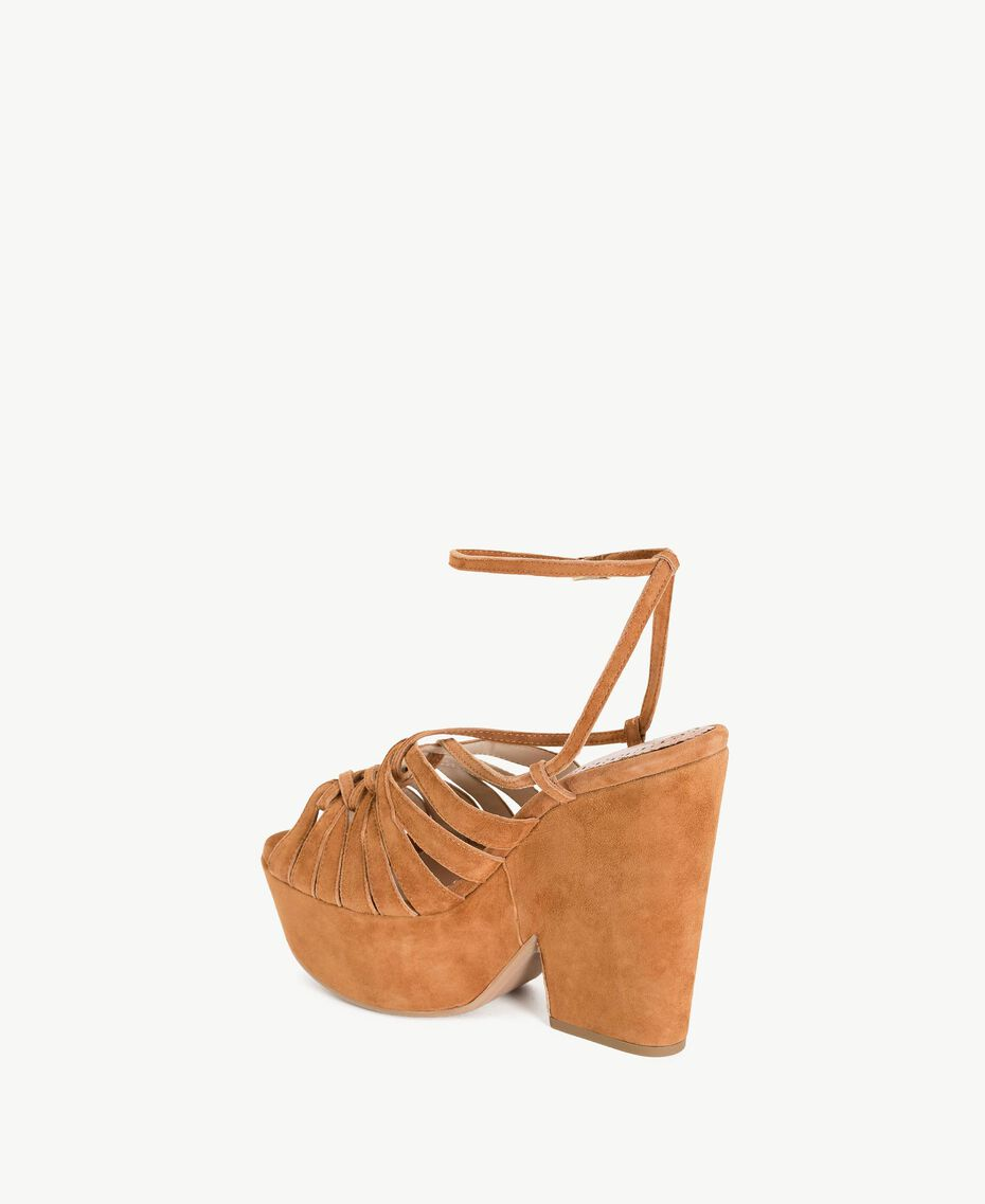 TWINSET Suede sandals Leather Brown Woman CS8TCA-03