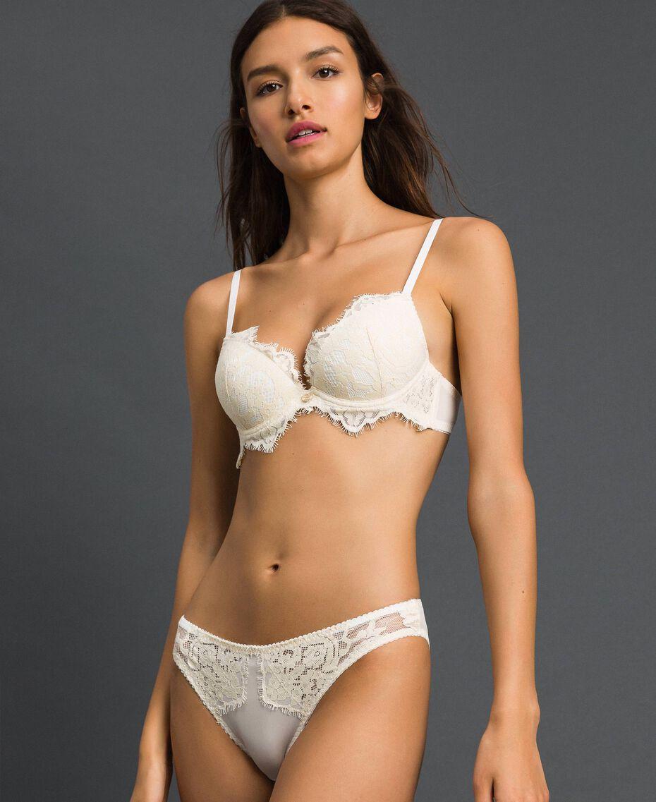 Culotte avec dentelle Crème Femme 192LI6166-01