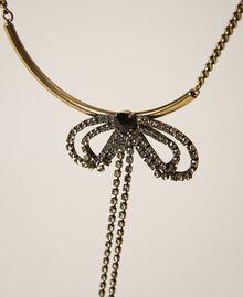 Collier ras-de-cou avec strass et chatons Noir Diamant Femme 202TA4304-02
