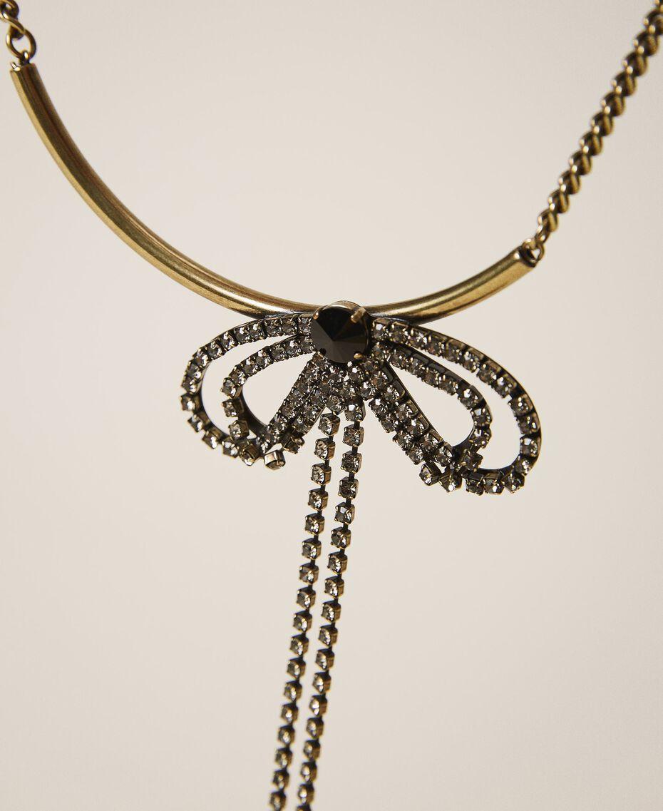 Choker with bezels and rhinestones Black Diamond Grey Woman 202TA4304-02