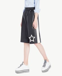 Cropped trousers Two-tone Black / Parchment White Woman JS82CE-02