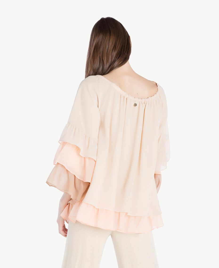 "Flounced blouse Multicolour ""Rope"" Beige Woman SS82DB-03"