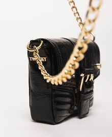 Small Rebel leather shoulder bag Black Woman 201TO823T-03