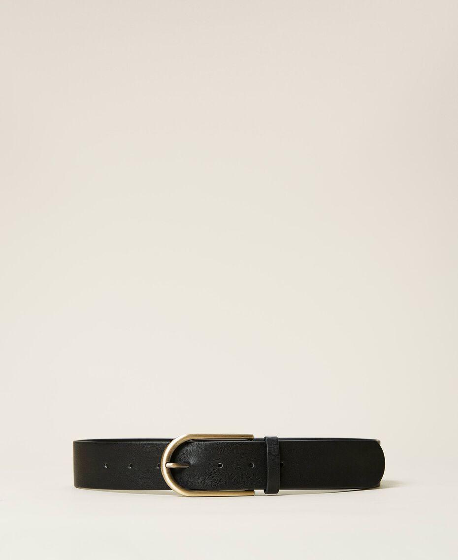 Cintura con fibbia arrotondata Nero Donna 212AA4012-01