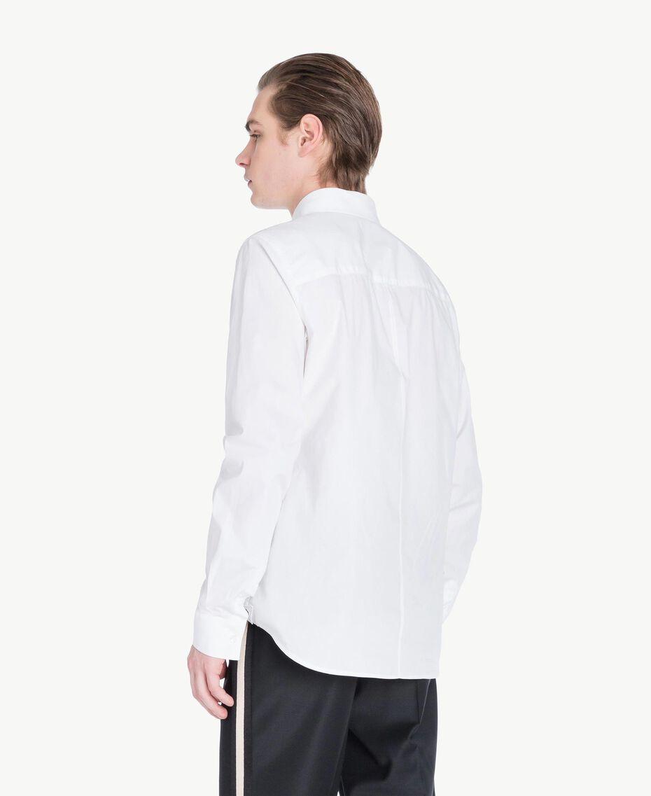 Poplin shirt Matte White Man US821B-03