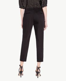 Pantalon satin Noir Femme TS826B-03