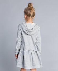 Платье из футера с принтом Серый Mélange Светлый Pебенок GA8261-03