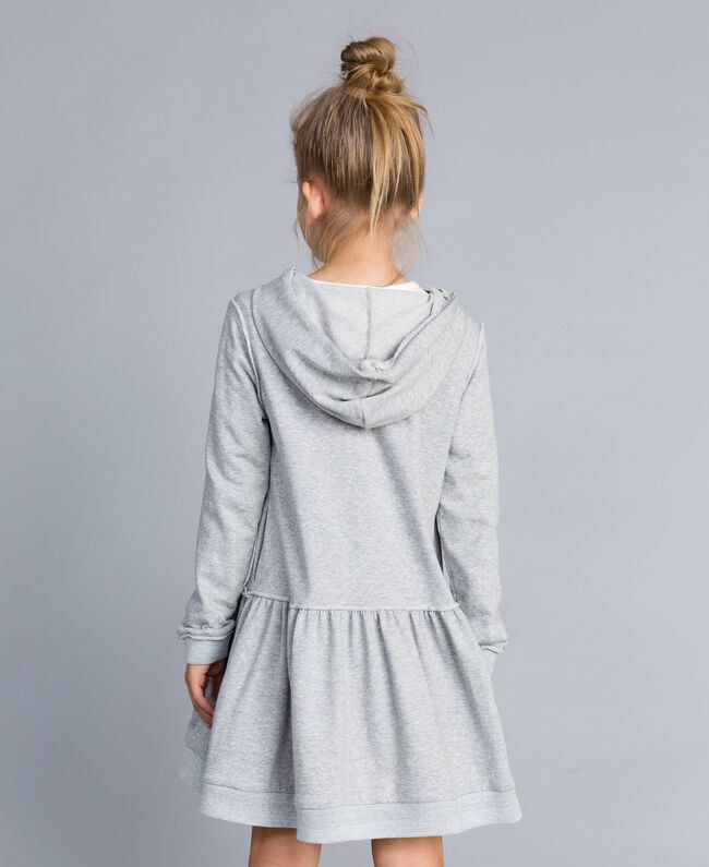 Robe en molleton avec imprimé Gris clair chiné Enfant GA8261-03