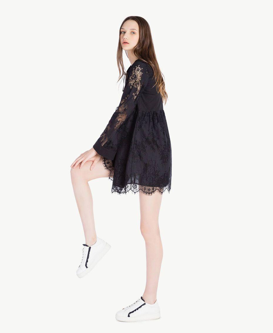 Robe dentelle Noir Femme SS82J5-02