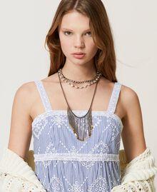 Collier multirang avec franges Or «Laiton Vieilli Cuivré» Femme 211TO501D-0S