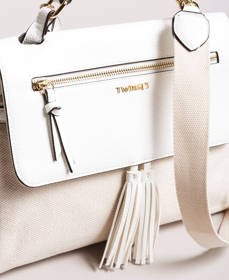 Canvas Cécile bag White Snow Woman 191TO8184-02