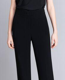 Envers satin palazzo trousers Black Woman QA8TGP-02