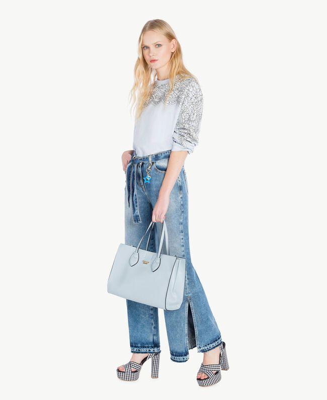 Sweat-shirt dentelle Topaze Bleu Femme JS82H1-05