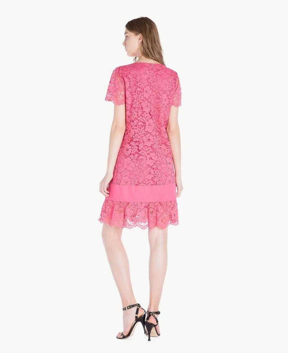 Kleid mit Spitze Provocateur Pink Frau TS828P-03