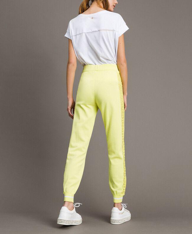 Pantalon de jogging avec découpes effet dentelle Noir Femme 191LL36CC-03