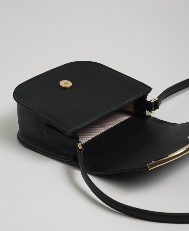 Faux leather small shoulder bag Black Woman 192TO8053-04