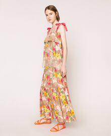 Jupe avec imprimé camouflage et floral Imprimé Hibiscus Multicolore Femme 201MT2384-01