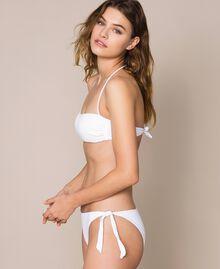 Soutien-gorge de bain bandeau avec imprimé pailleté Blanc Femme 201LMMN11-01