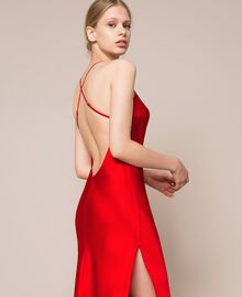 Satin slip Pomegranate Red Woman 201LL23YY-04