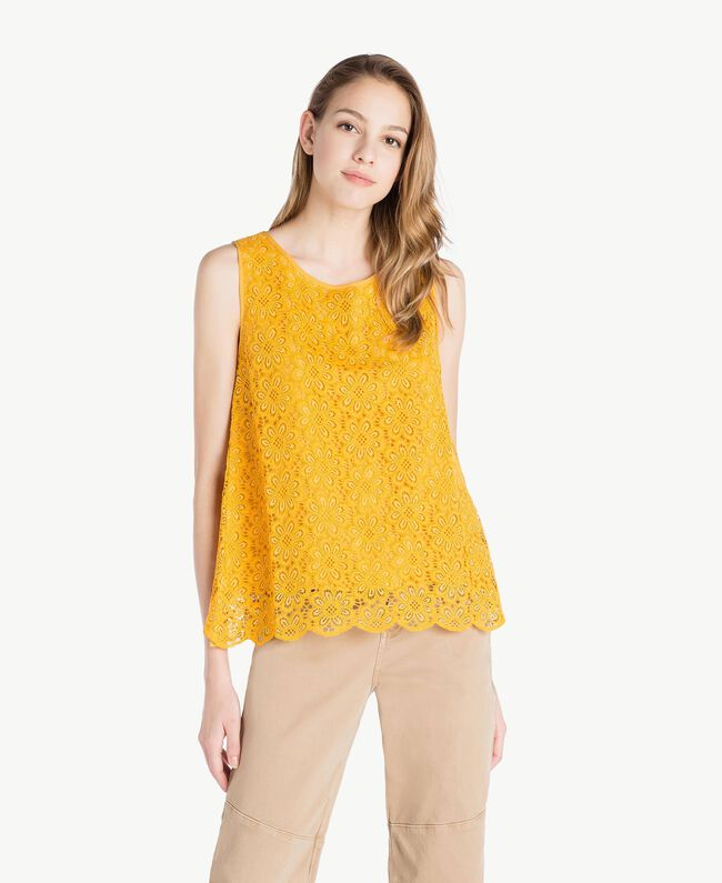 Lace top Mineral Yellow Woman SS82LB-01