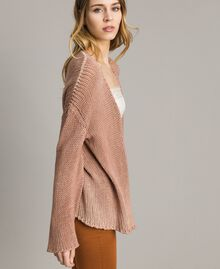 "Double-sided cotton cardigan ""Desert Rose"" Beige Woman 191MT3012-03"