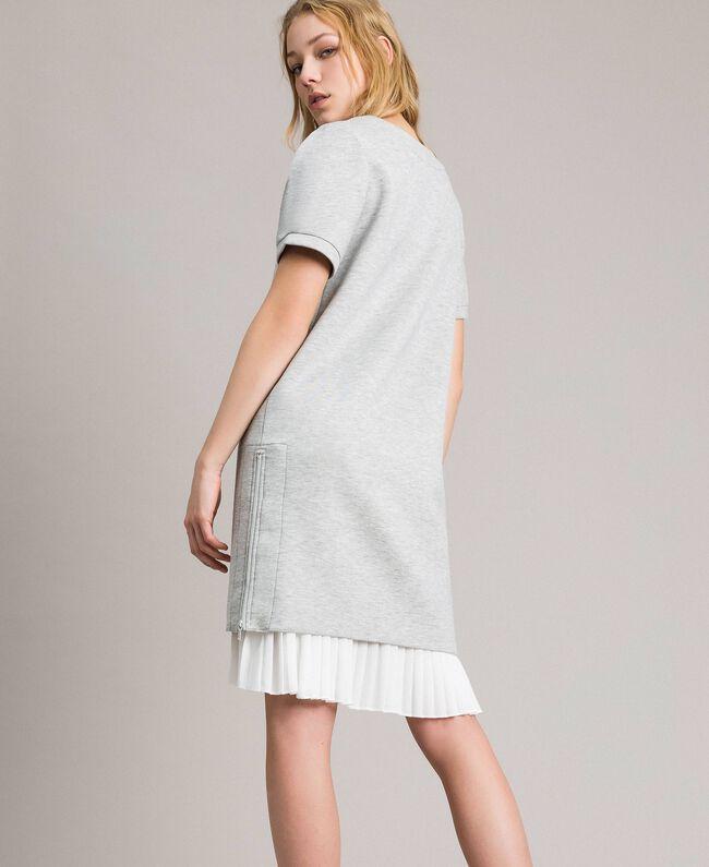 Robe plissée en scuba Gris Mélangé Femme 191TP2063-04