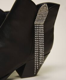 Ankle boots with rhinestone fringe Black Woman 202MCT062-04