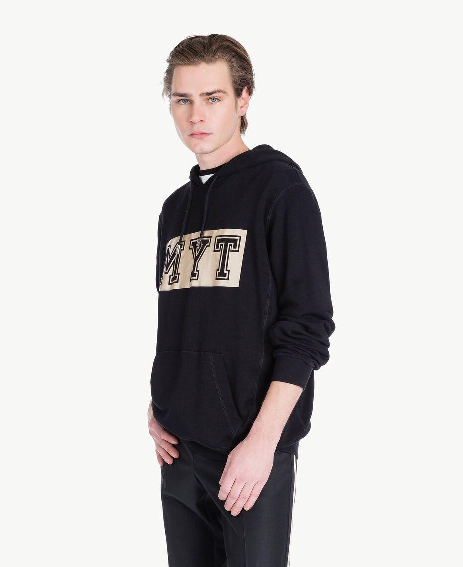 Logo sweatshirt Black Man US821R-02